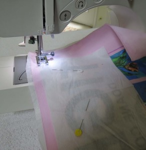 Sewing bottom piece of square