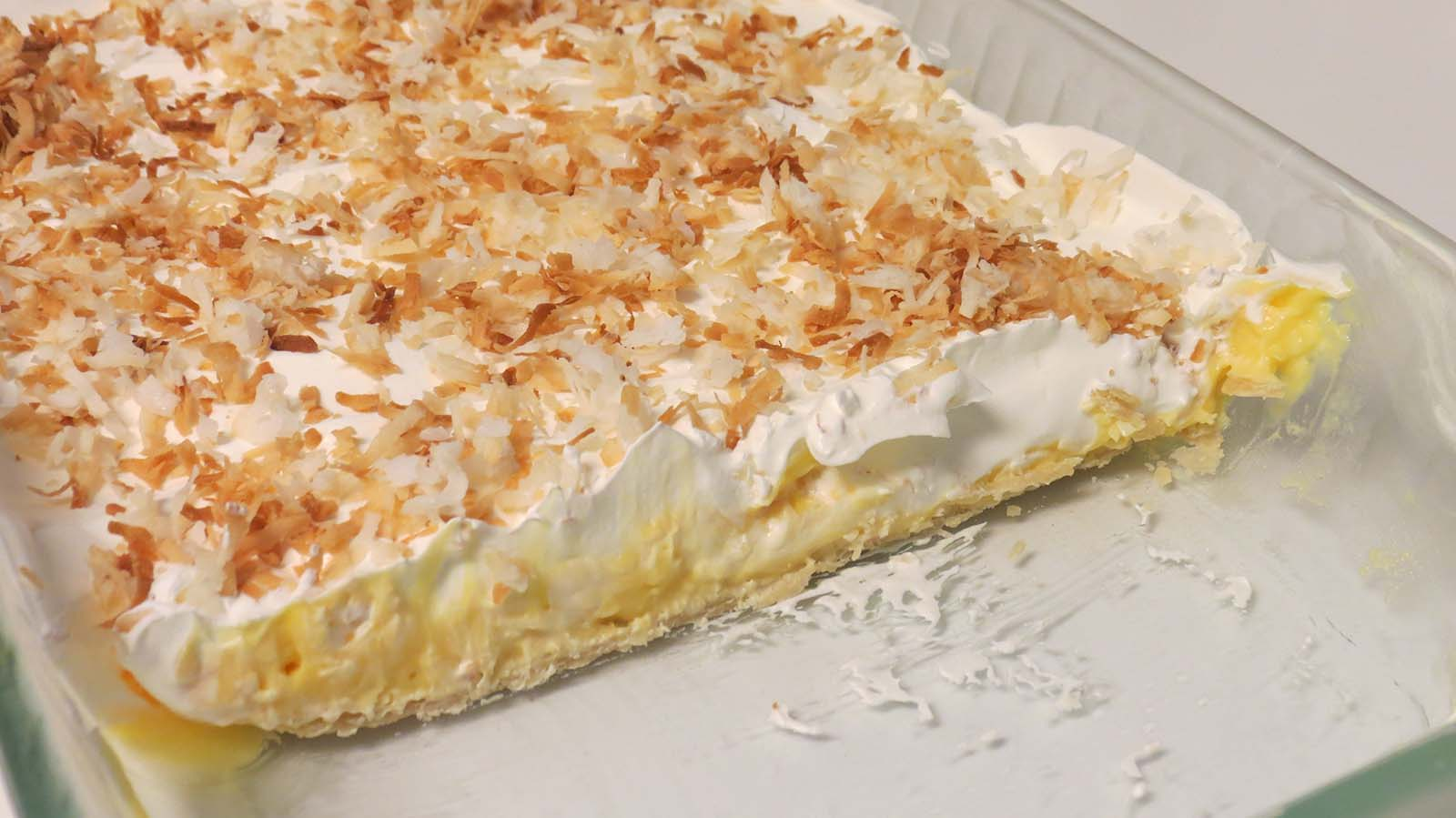 All layers of Coconut Cream Bars by Sarah Franzen