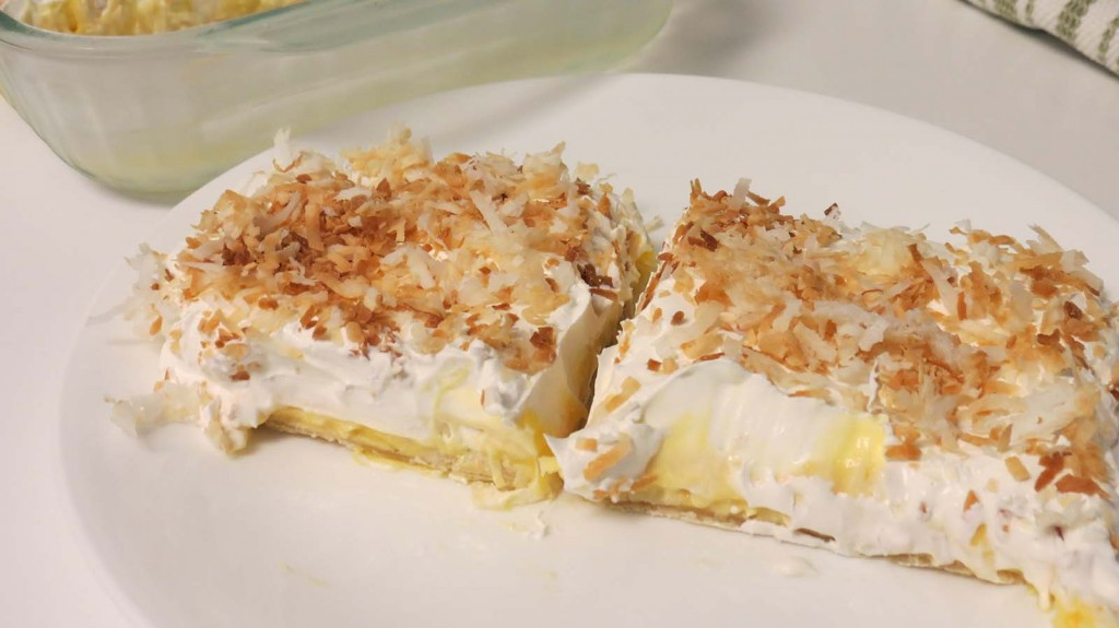 Coconut Cream Pie Bars by Sarah Franzen