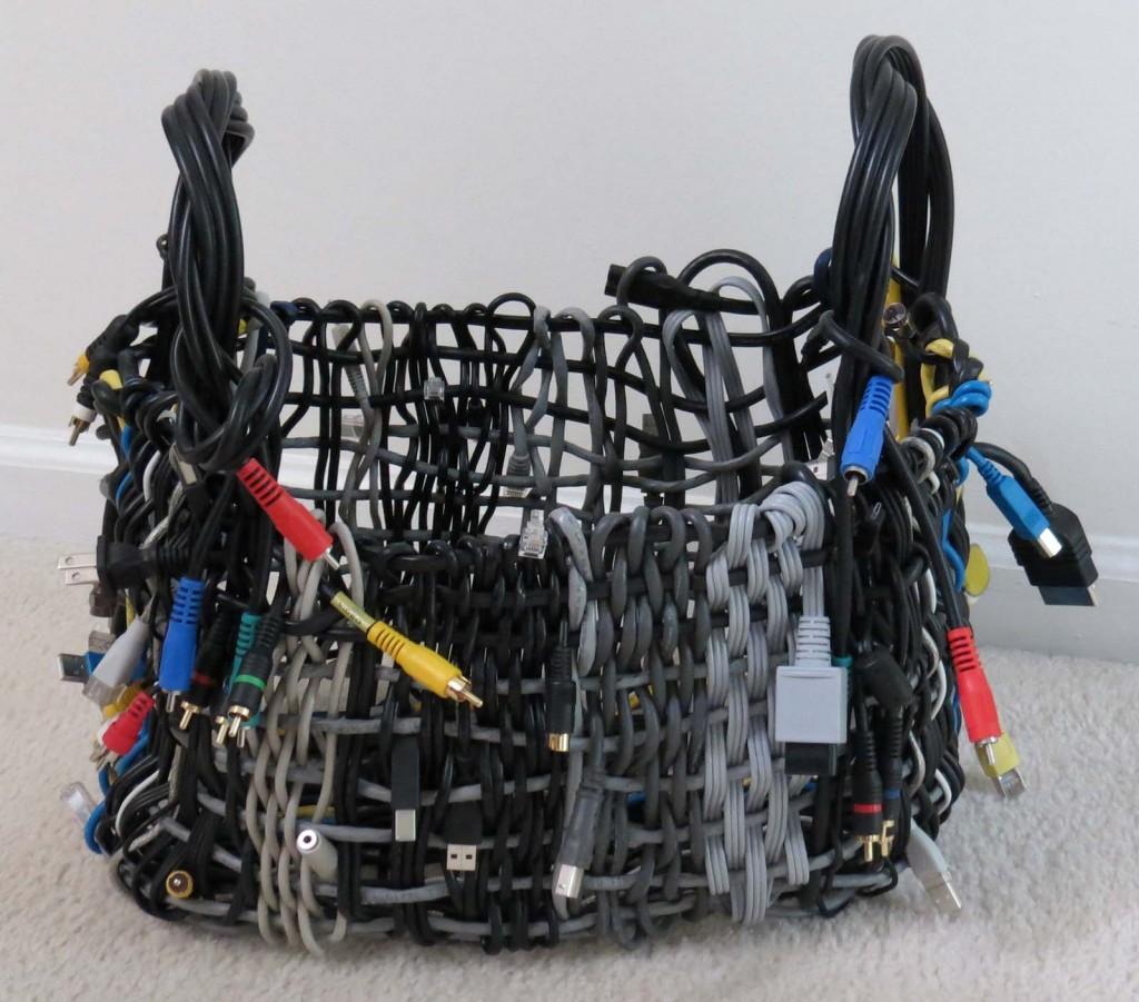 Woven Cord Basket (F), by Sarah Franzen