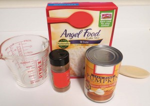 Angel Food Pumpkin Cake Ingredients
