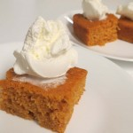 Finished Angel Food Pumpkin Cake