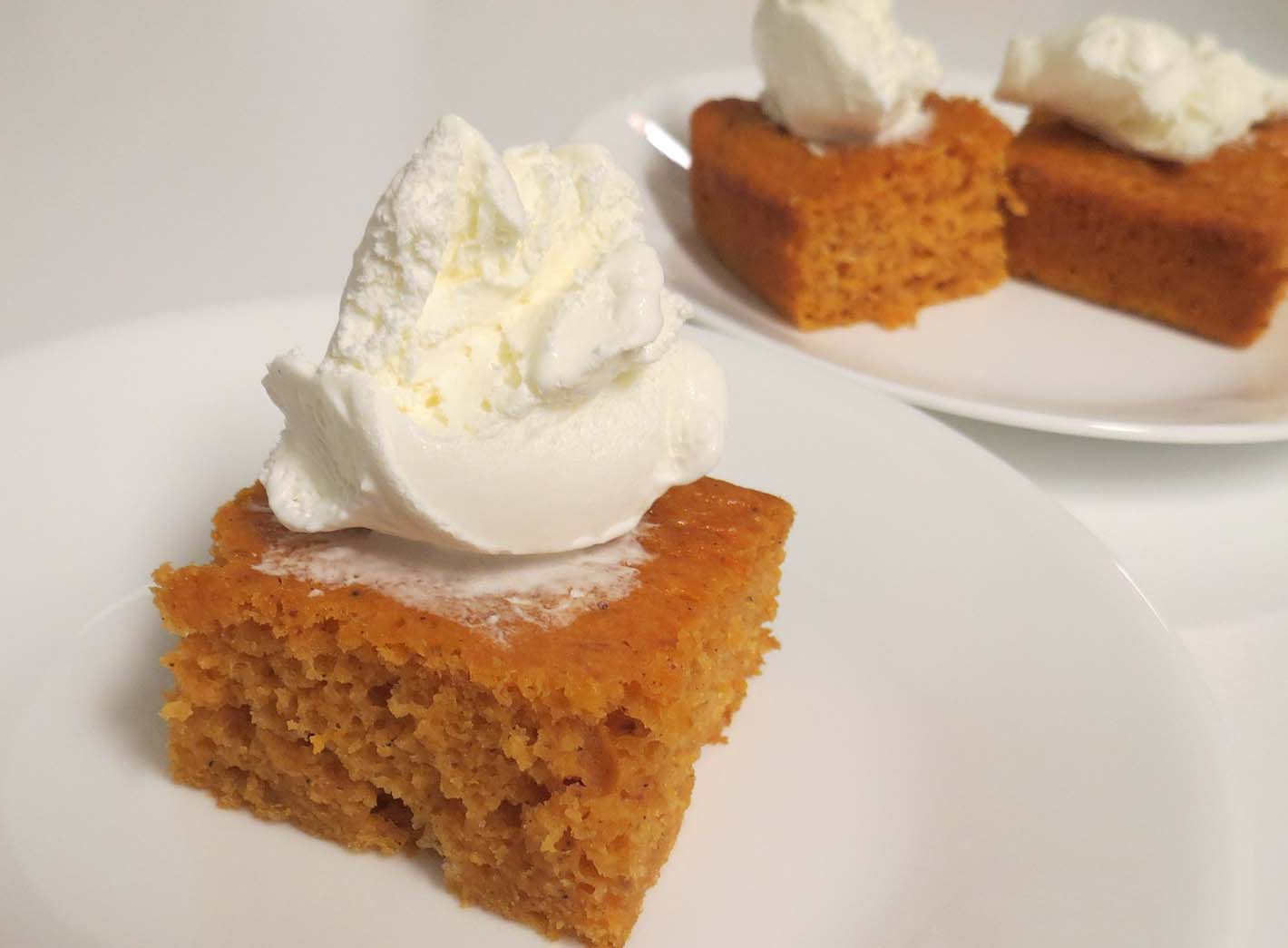 Autumn In New Jersey Complete With Angel Food Pumpkin Cake