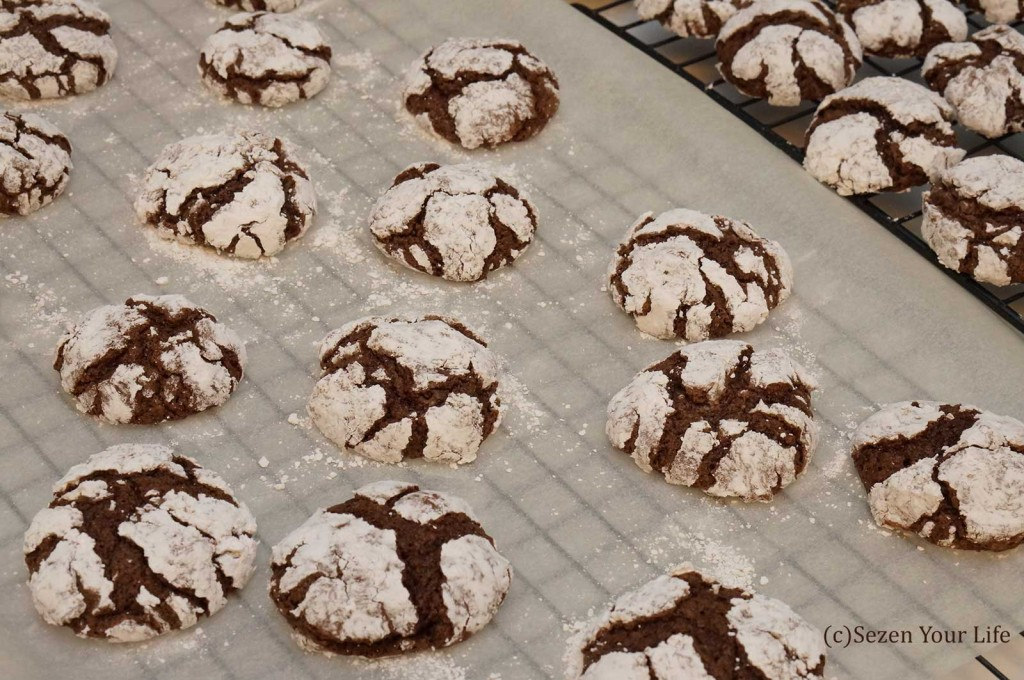 Baked Crinkle Cookies by Sarah Franzen