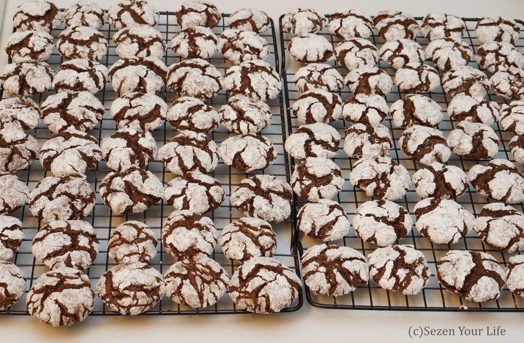 Crinkle Cookies Cooling by Sarah Franzen
